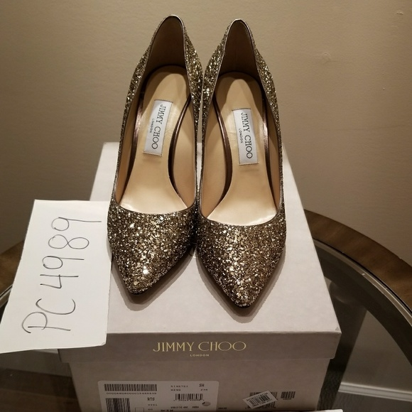 Jimmy Choo Romy 85 glitter pumps in 2019 | Products